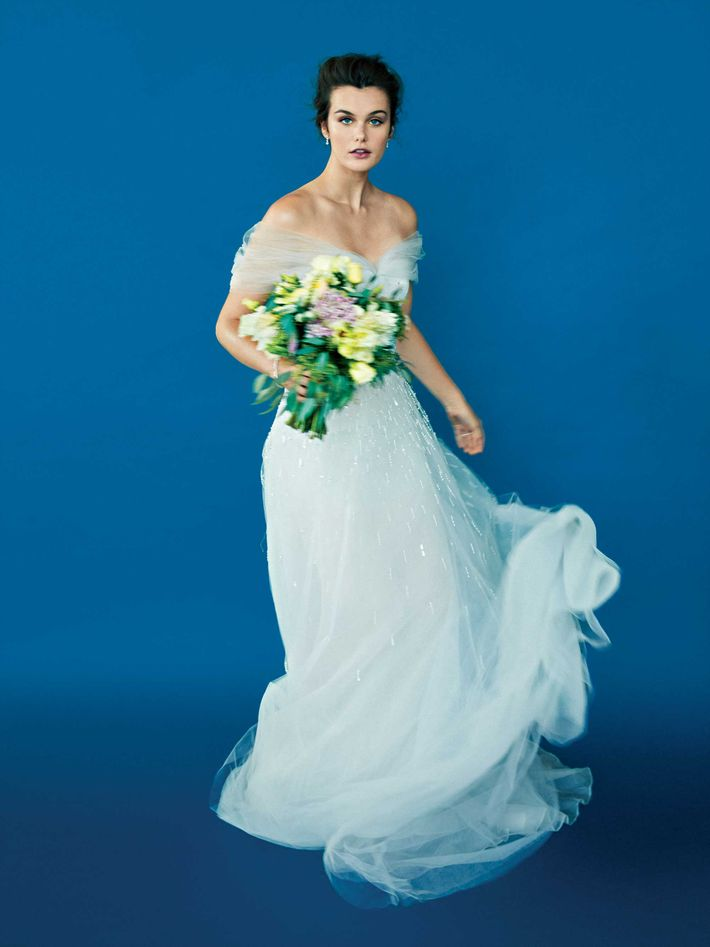 Pop Wedding Dress.The Best Winter Wedding Dresses Have Details That Pop