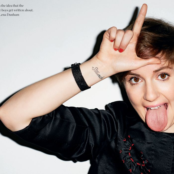 Lena Dunham, shot by Terry Richardson.