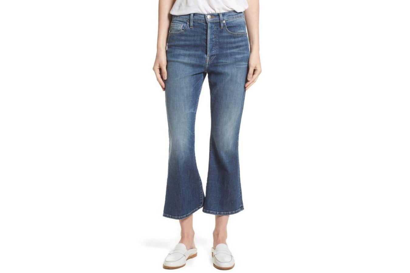 Frame Le Crop Flare High Waist Jeans