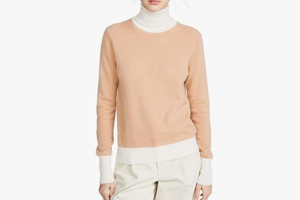 Bop Basics Women's Combo Cashmere Turtleneck