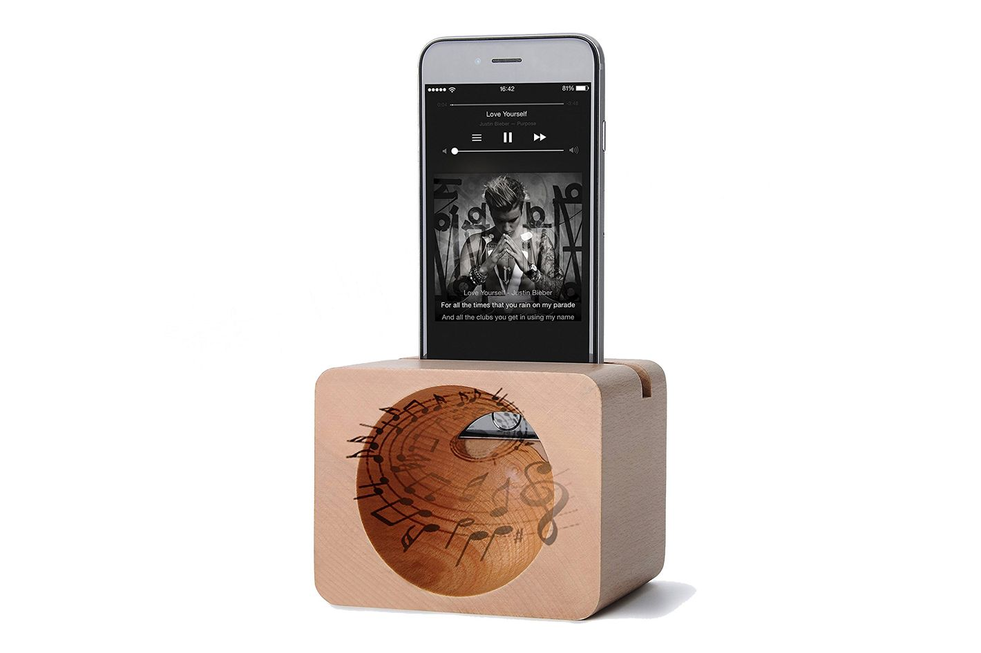iphone 7 Wood Stand Universal Sound Amplifier