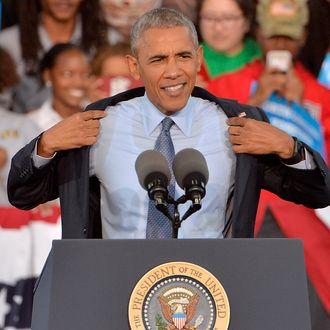 President Obama Campaigns For Hillary Clinton In North Carolina