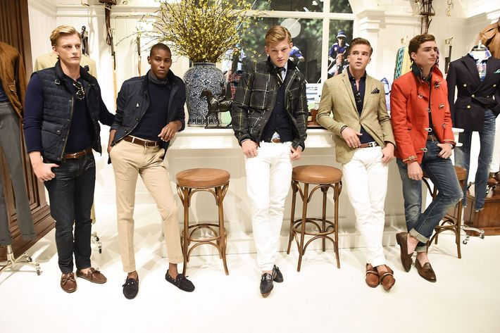 Men's looks from Ralph Lauren.