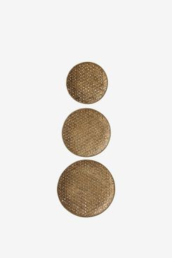 Creative Co-Op Round Bamboo Baskets (Set of 3 Sizes)
