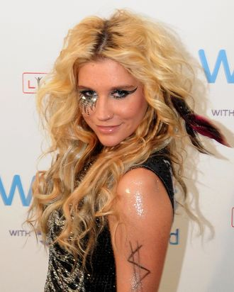LONDON, ENGLAND - JULY 02: Ke$ha attends the second day of the Wireless Festival at Hyde Park on July 2, 2011 in London, England. (Photo by Jim Dyson/Getty Images)