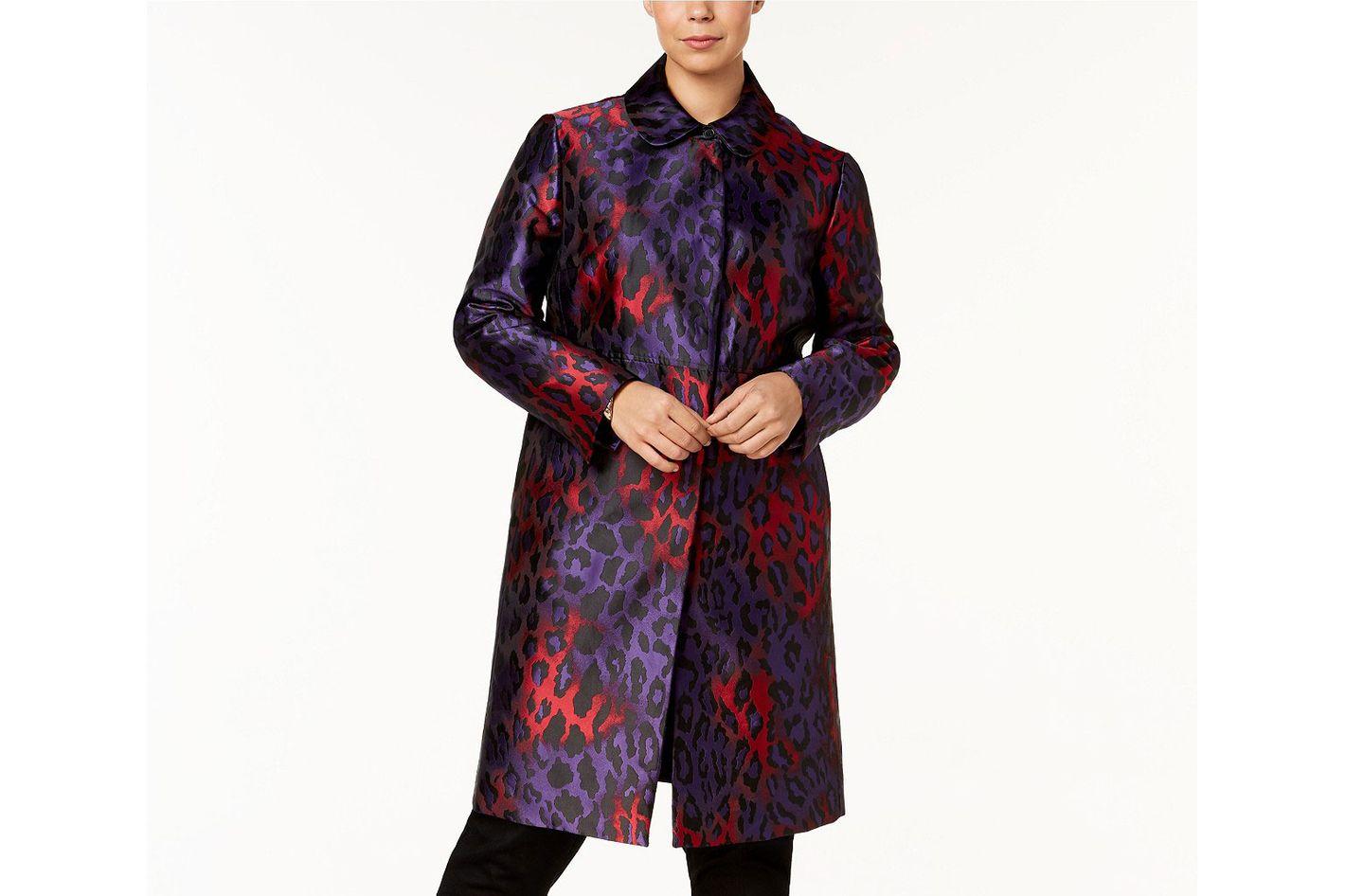 Anne Klein Printed Long Jacket