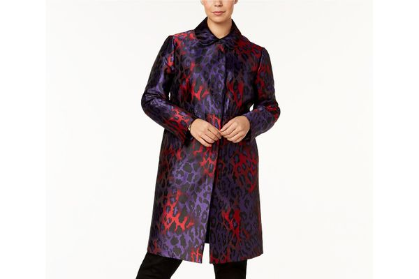Anne Klein Printed Long Jacket