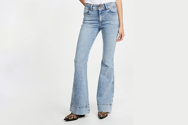 ALICE + OLIVIA JEANS Beautiful Ex High-Waisted Bell Jeans