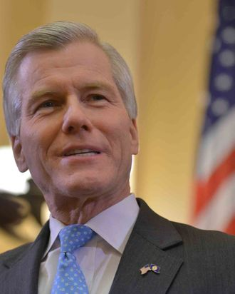 Outgoing Virginia governor Bob McDonnell delivers his final State of the Commonwealth address before newly elected Virginia governor Terry McAuliffe takes office at the Virginia State Capitol on Wednesday, January 8, 2014, in Richmond, VA.