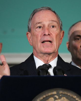 NEW YORK, NY - NOVEMBER 15: New York City Mayor Michael Bloomberg speaks at a news conference at City Hall to discuss the removal of Occupy Wall Street protesters early today from Zuccotti Park on November 15, 2011. Hundreds of protesters, who rallied against inequality in America, have slept in tents and under tarps since September 17 in Zuccotti Park, which has become the epicenter of the global Occupy Wall Street movement. (Photo by Spencer Platt/Getty Images)