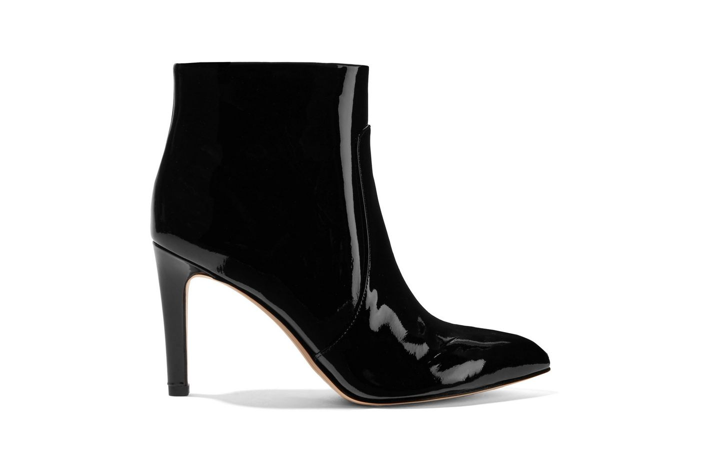 SAM EDELMAN Olette patent-leather ankle boots