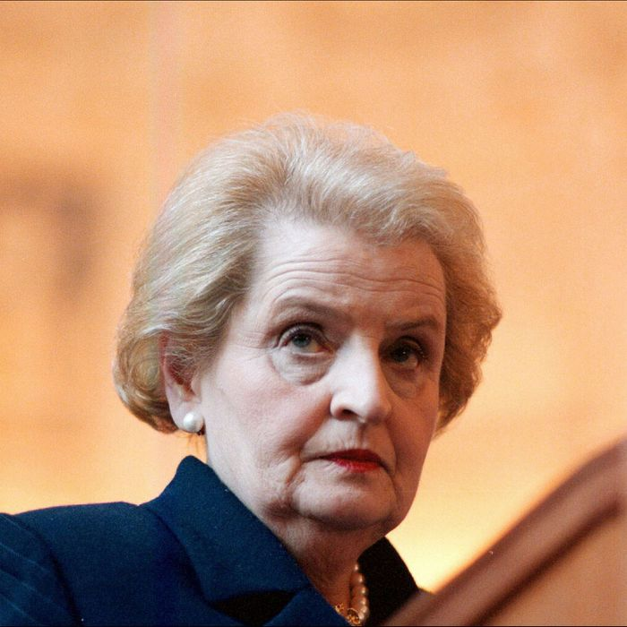 Madeline Albright in Itay in 1997.