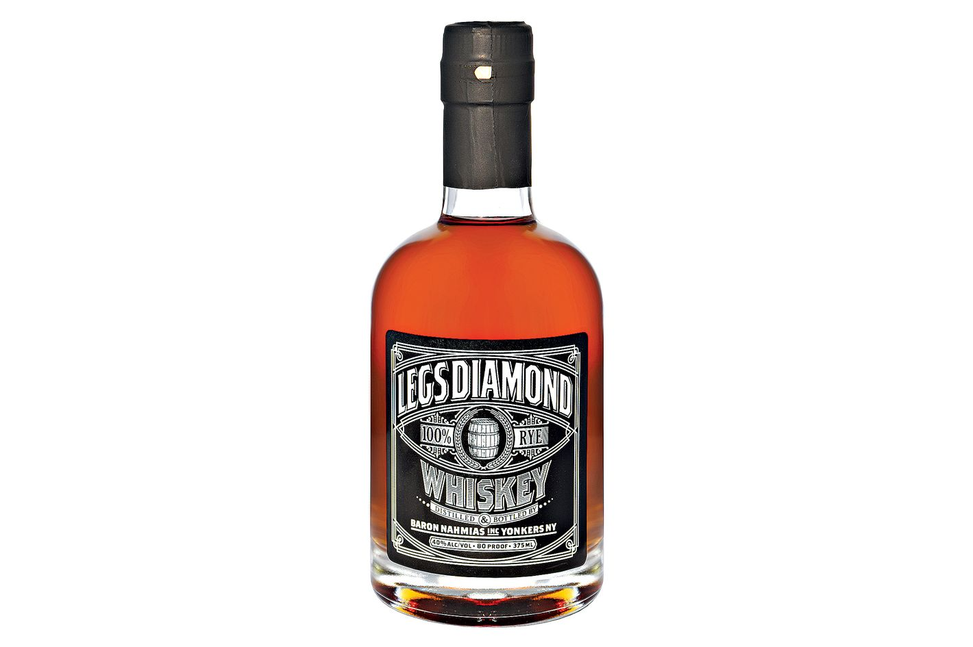 Half-Bottle of Nahmias Legs Diamond Rye Whiskey, Case of 6