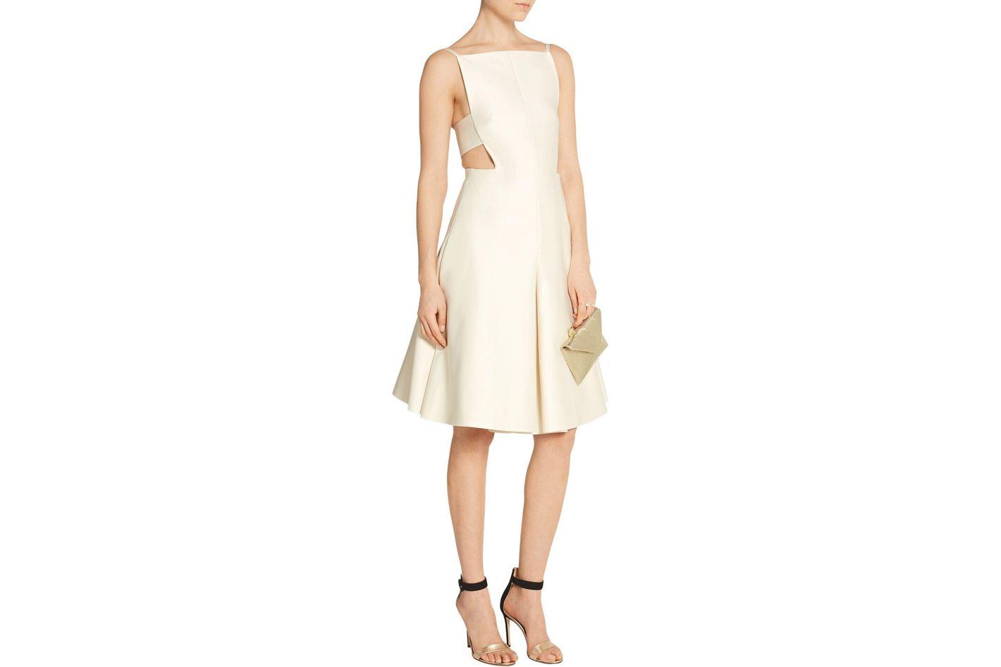 Solace London Ava cutout satin-crepe dress