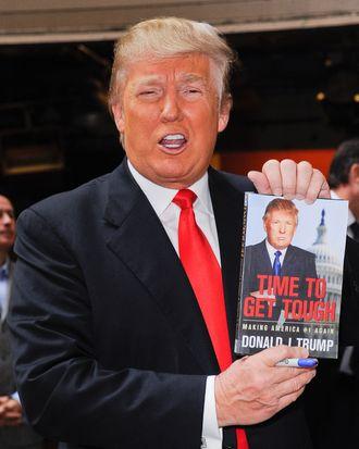 NEW YORK, NY - NOVEMBER 15: TV personality Donald Trump leaves the