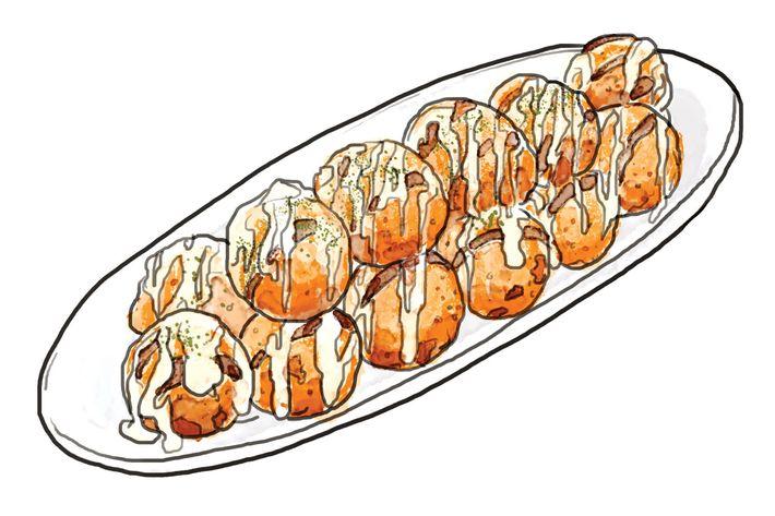 Otafuku x Medetai's takoyaki.