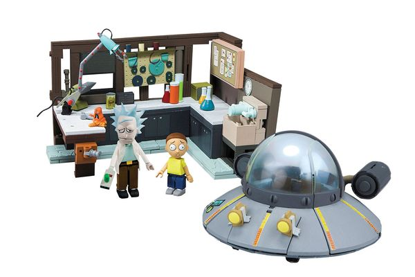 McFarlane Toys Rick and Morty Spaceship and Garage Large Construction Set