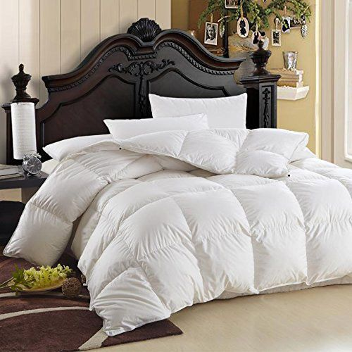 Egyptian Bedding 600-Thread-Count Egyptian Cotton Siberian Goose Down Comforter