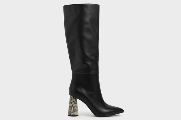 Charles & Keith Knee High Heeled Boots