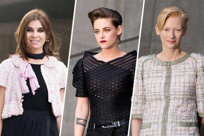 Carine Roitfeld, Kristen Stewart, Tilda Swinton.