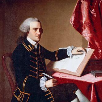 Portrait of John Hancock (1737-1793) by John Singleton Copley (1738-1815), oil on canvas. United States, 18th century. Boston, Museum Of Fine Arts.