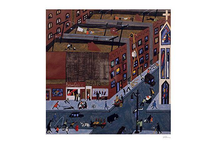 """Harlem Street Scene,"" by Jacob Lawrence"