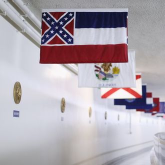 Mississippi State Flag Under Scrutiny Amid Calls For South Carolina To Take Down Confederate Flag Outside Its Capitol
