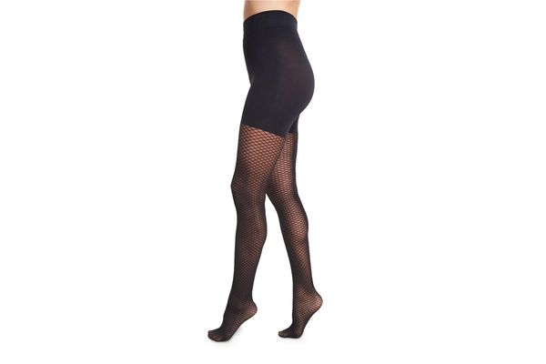 Wolford Raila Control-Top Fishnet Tights