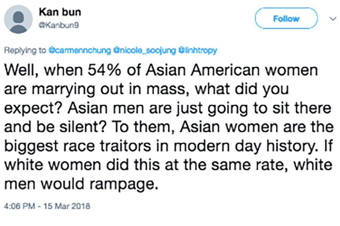 Hate women women asian The Black