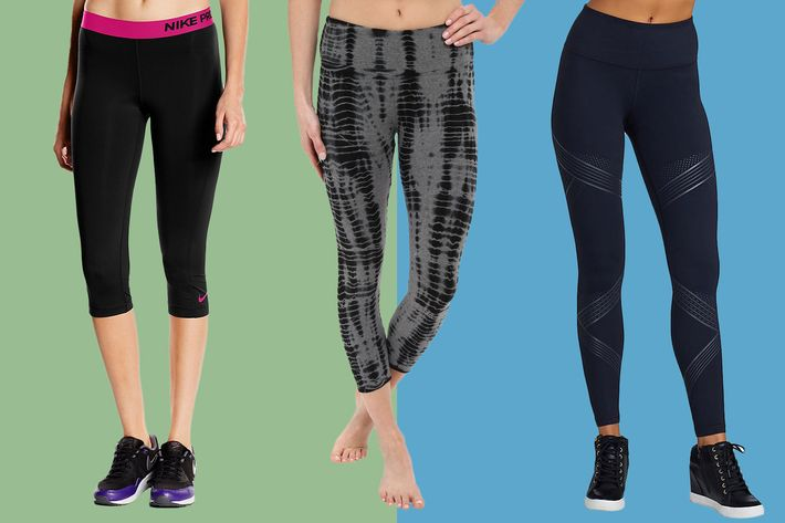 collage of hard tail flat waist capri leggings, nike pro training capris, and under armour ua mirror hi rise leggings - strategist best fitness gear and best workout leggings