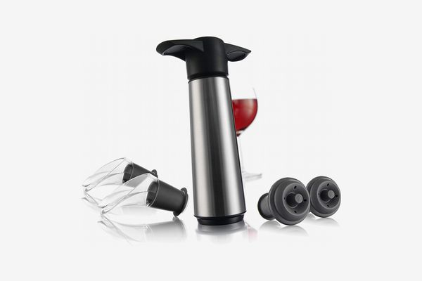 The Original Vacu Vin Wine Saver with 2 Vacuum Stoppers and 2 Wine Servers