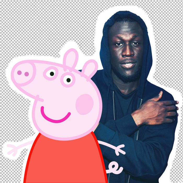 Peppa Pig and Stormzy.