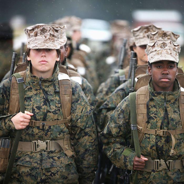 Female Marines.