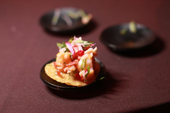 Lobster tostada from Bodega Negra.