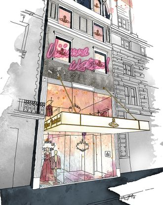 Vivienne Westwood opens in New York next month.