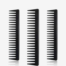 Leinuosen Black Carbon Wide Tooth Comb