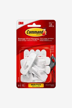 Command 17002-VP-6PK Small Hooks with Strips Value Pack