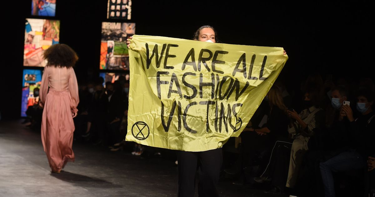 This Fashion Protester Picked the Wrong Show thumbnail