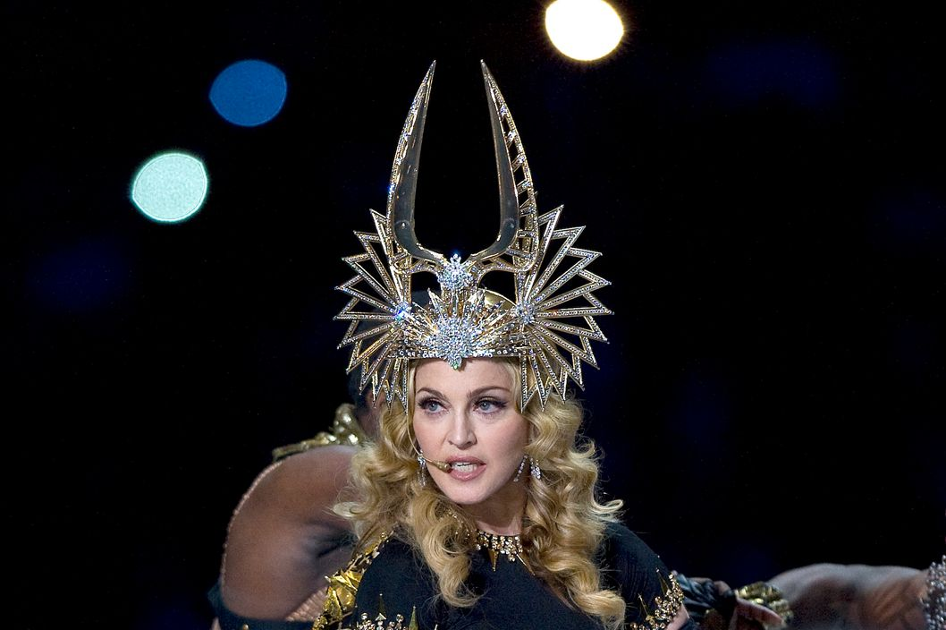 Madonna performs at the 2011 Super Bowl Halftime show. <P> Pictured: Madonna <P> <B>Ref: SPL357293  060212  </B><BR/> Picture by: Anthony J. Causi / Splash News<BR/> </P><P> <B>Splash News and Pictures</B><BR/> Los Angeles:310-821-2666<BR/> New York:212-619-2666<BR/> London:870-934-2666<BR/> photodesk@splashnews.com<BR/> </P>