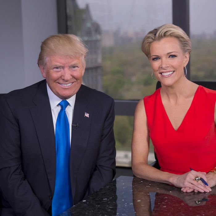 Donald Trump and Megyn Kelly. Photo: Eric Liebowitz/FOX via Getty Images
