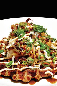 Ivan Orkin's okonomiyaki includes scrapple.