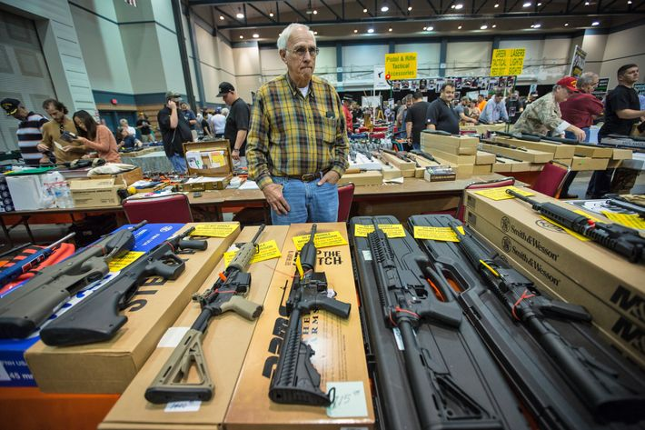 At Gun Show AR 15s Are Top Sellers After Mass School Shooting