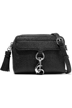 Rebecca Minkoff M.A.B. tasseled textured-leather should bag, in black