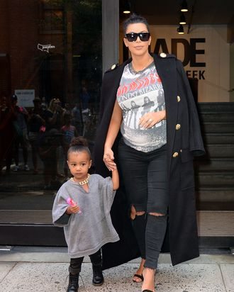 North West and Kim Kardashian.