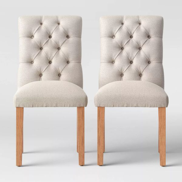 Threshold Brookline Tufted Dining Chair (Set of Two)