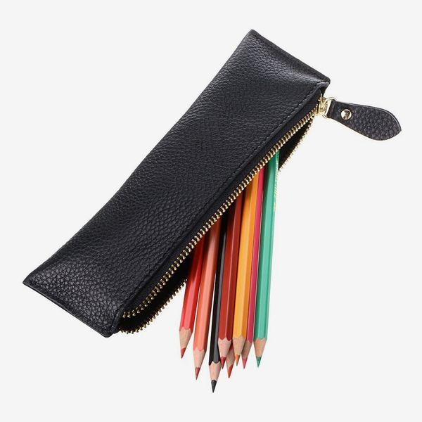 BTSKY Leather Pencil Case