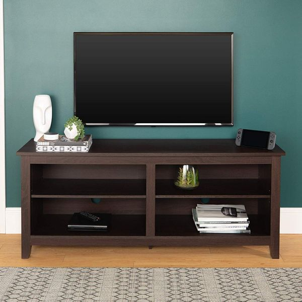 "55/"" TV STAND MEDIA CONSOLE Entertainment Unit Center Furniture Shelves Modern"