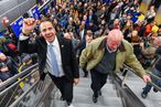 January 01, 2017- New York City, NY- Governor Andrew Cuomo greets New Yorkers on opening day of 2nd Avenue Subway at 96th Street Station and takes inaugural  ride with Thomas Pendergast, CEO of MTA  to 72nd Street Station ( Darren McGee- Office of Governor Andrew M. Cuomo)