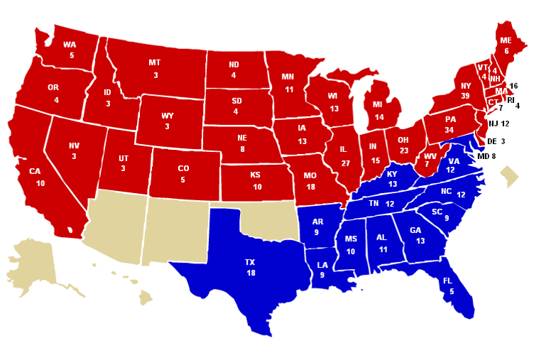 A Southern GOP Cant Be The Party Of Lincoln - Us map by political party