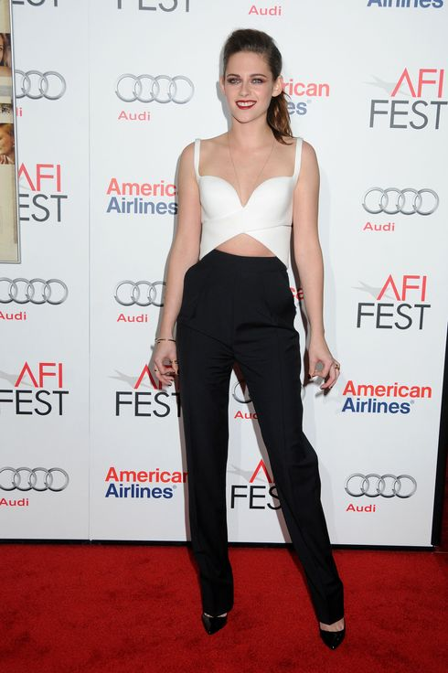 "3 November 2012 - Hollywood, California - Kristen Stewart. AFI FEST 2012 ""On The Road"" Gala Screening held at Grauman's Chinese Theatre. Photo Credit: Byron Purvis/AdMedia"